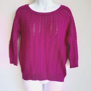 2/$15 American Eagle 3/4 Sleeve Cable Knit Sweater